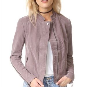 Free People Clean Leather Moto Jacket